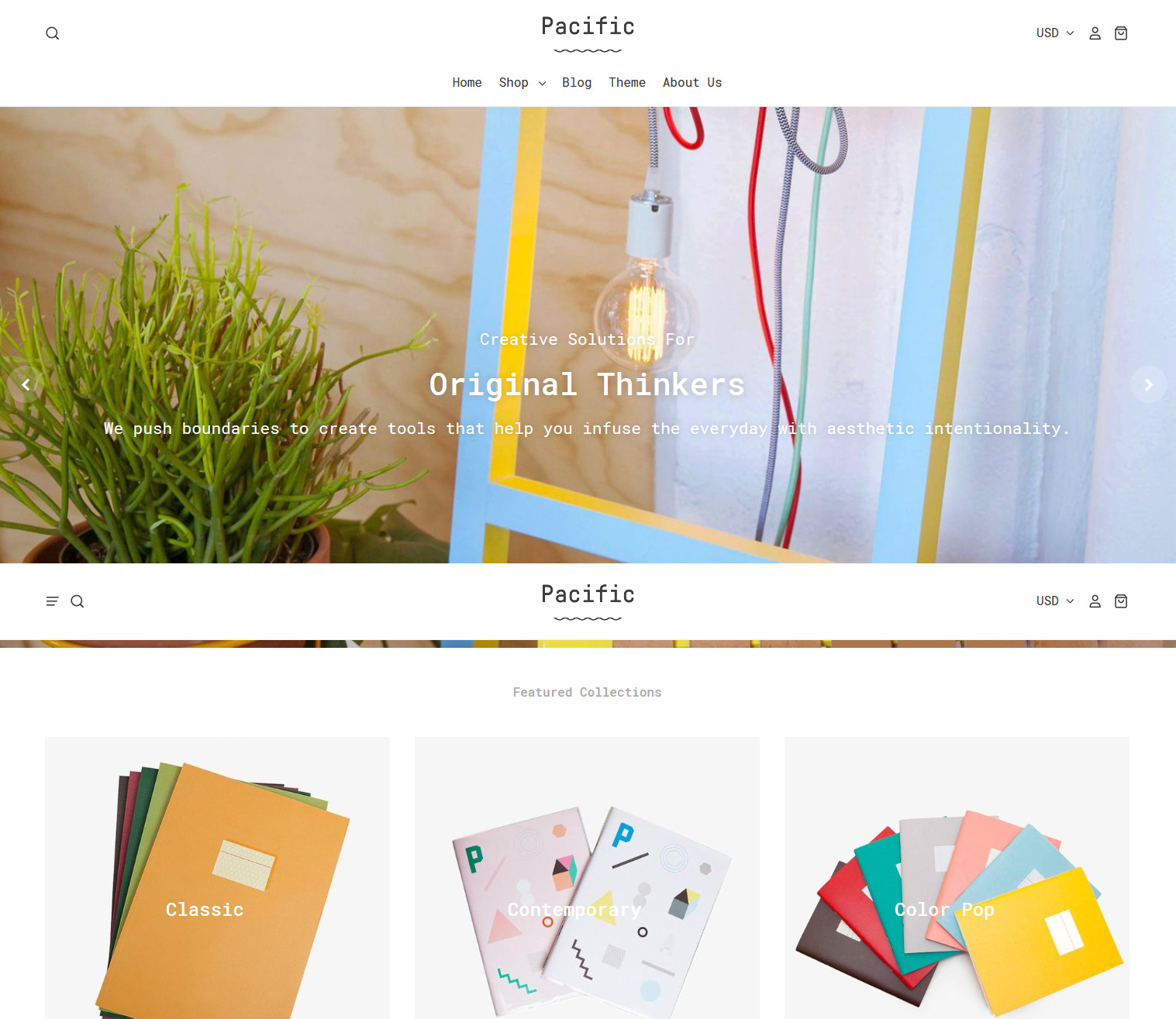 stille tema for Shopify