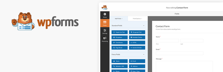 Kontaktformular af WPForms - Drag & Drop Form Builder til WordPress