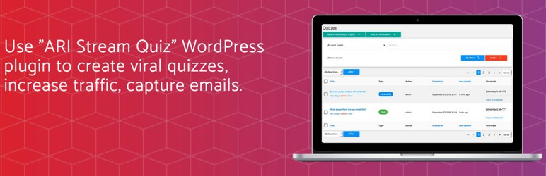 ARI Stream Quiz - WordPress Quiz Builder