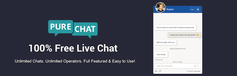 Pure Chat - 100% kostenloses Live Chat Plugin & mehr!