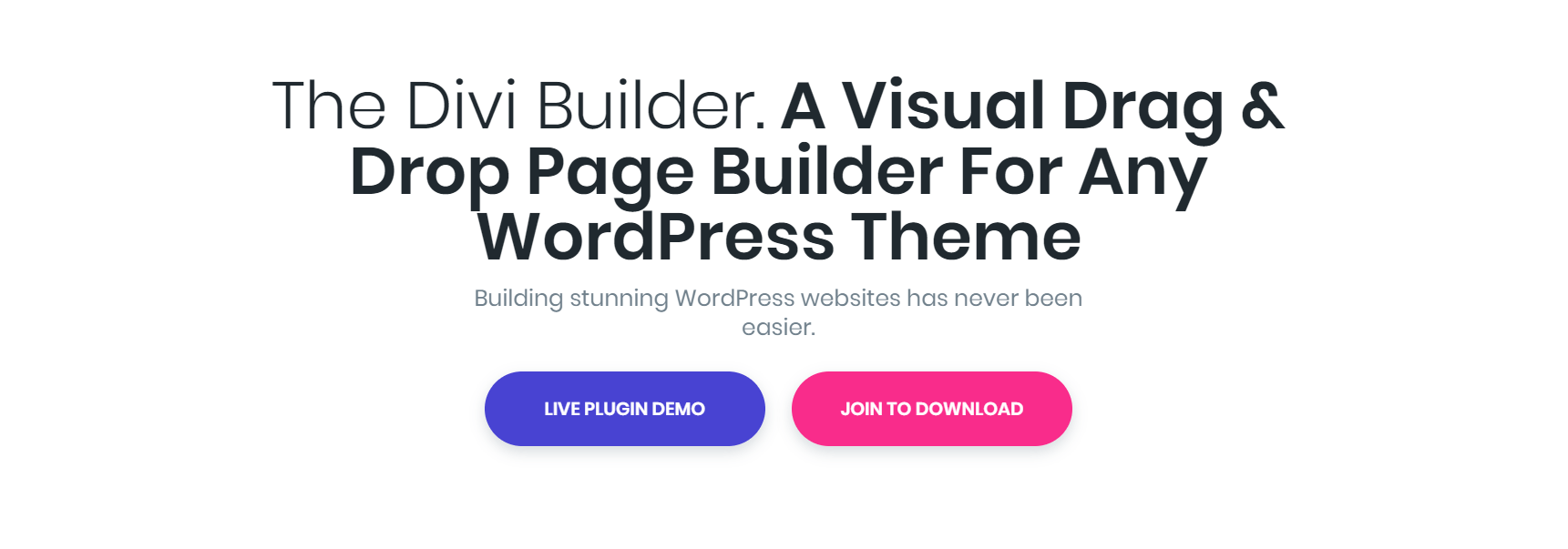 O site Divi Builder.