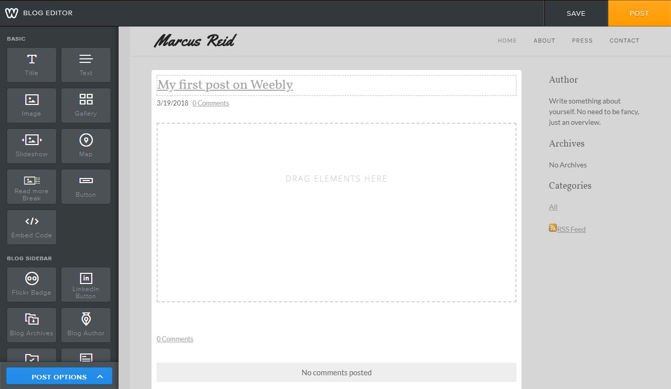 editor weebly