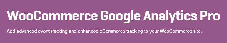 صفحة WooCommerce Google Analytic Pro الرئيسية.